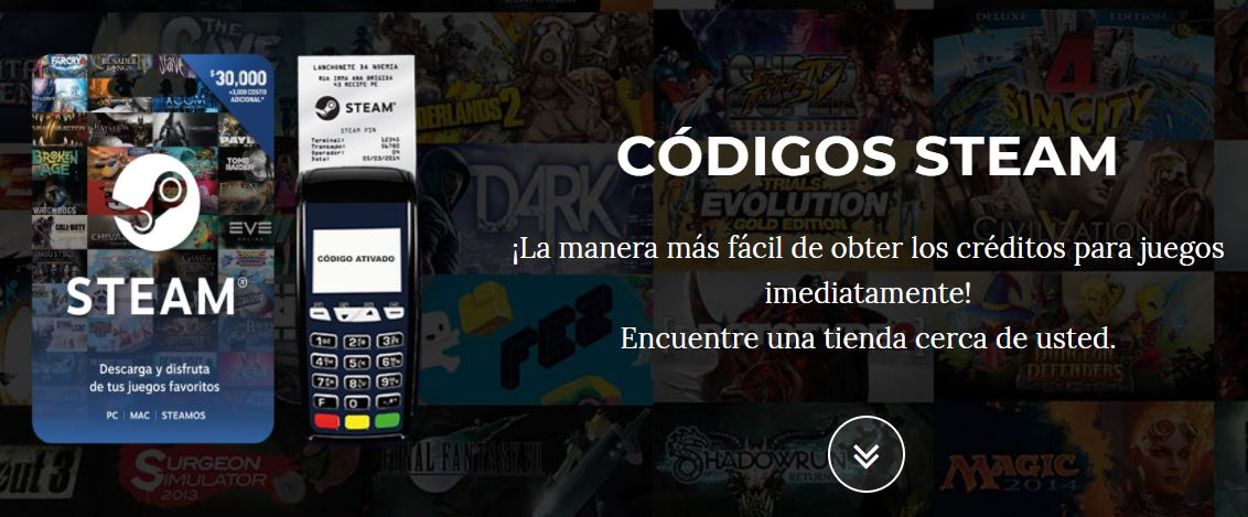Código Steam Latin America game codes and game cards
