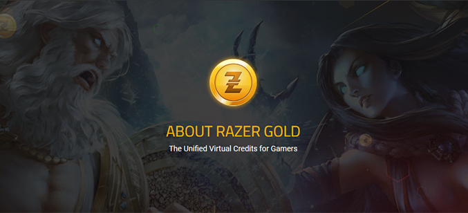 Razer Gold game codes and game cards
