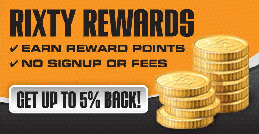 Get up to 5% back with Rixty Rewards