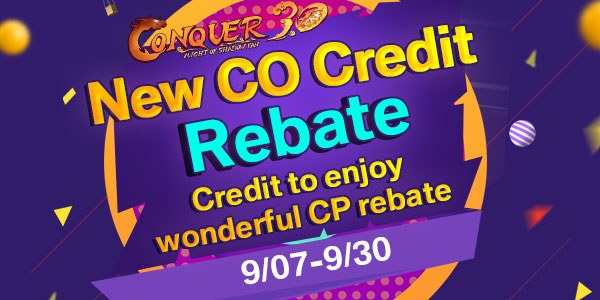 New Conquer Online Credit Rebate game codes and game cards