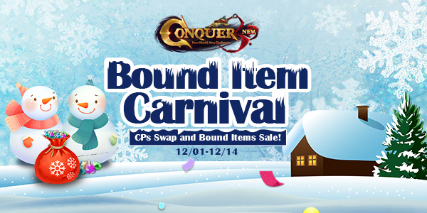 Winter Bound Items Carnival for English version of Conquer Online game codes and game cards