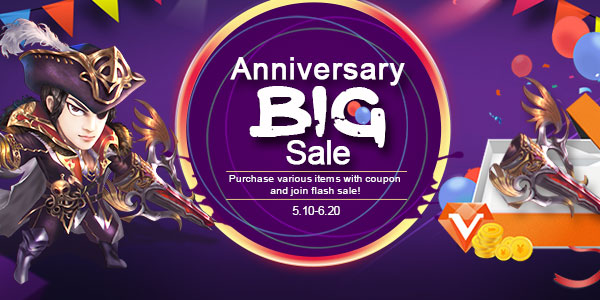 The 15th Anniversary Big Sale on Conquer Online! game codes and game cards