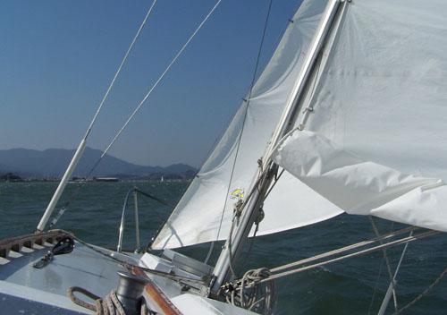 Smooth sailing into Richardson Bay