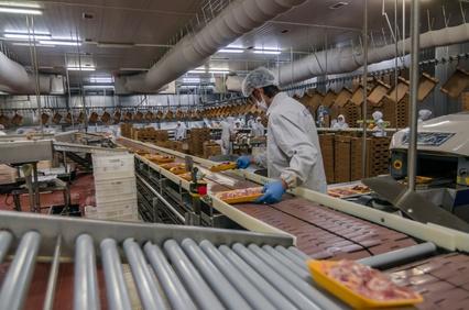 Industrienahrung Produktionsstraße