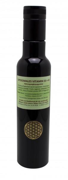Liposomales Vitamin D3 + K2 Raw, 250 ml