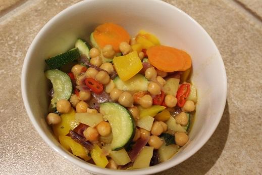 Bunter Kichererbsen-Gemüse-Eintopf