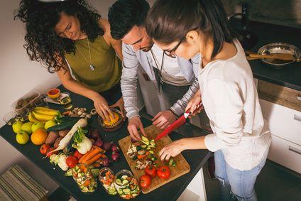 Weihnachten, zusammen vegan kochen