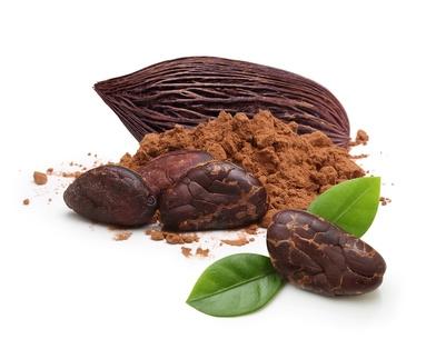 Kakaobohnen und -Pulver