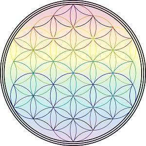 Blume Des Lebens Zum Ausdrucken Regenbogenkreis