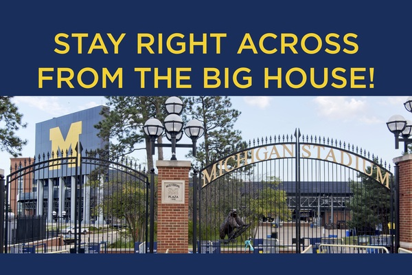 Stay Across from the Big House!