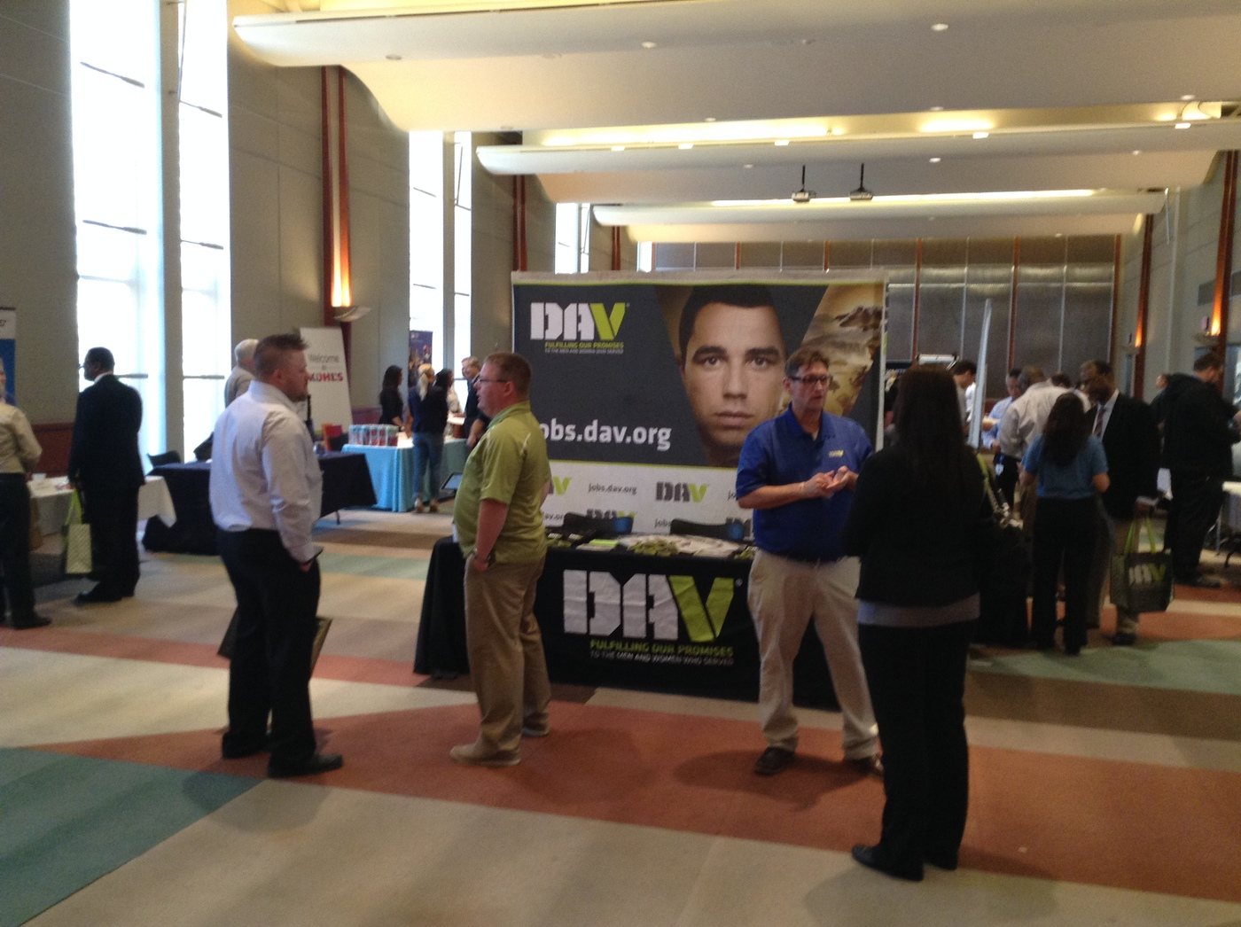 jobs for veterans military job fairs recruitmilitary dav at veteran career fair