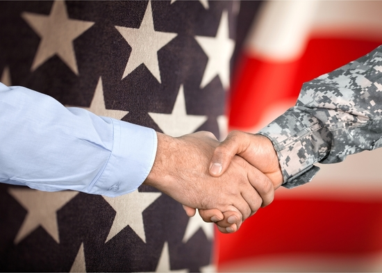 Veteran Business Handshake