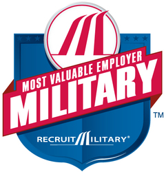Most Valuable Employers for Military logo