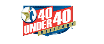 Previous logo 40 Under 40 for Military