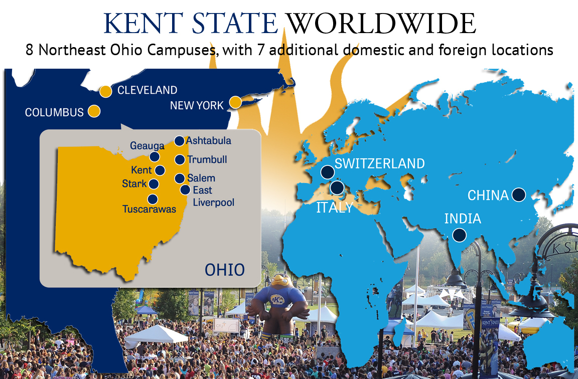 Kent State Stark Campus Map.Kent State Map Southwest Us Map Allstate Arena Map