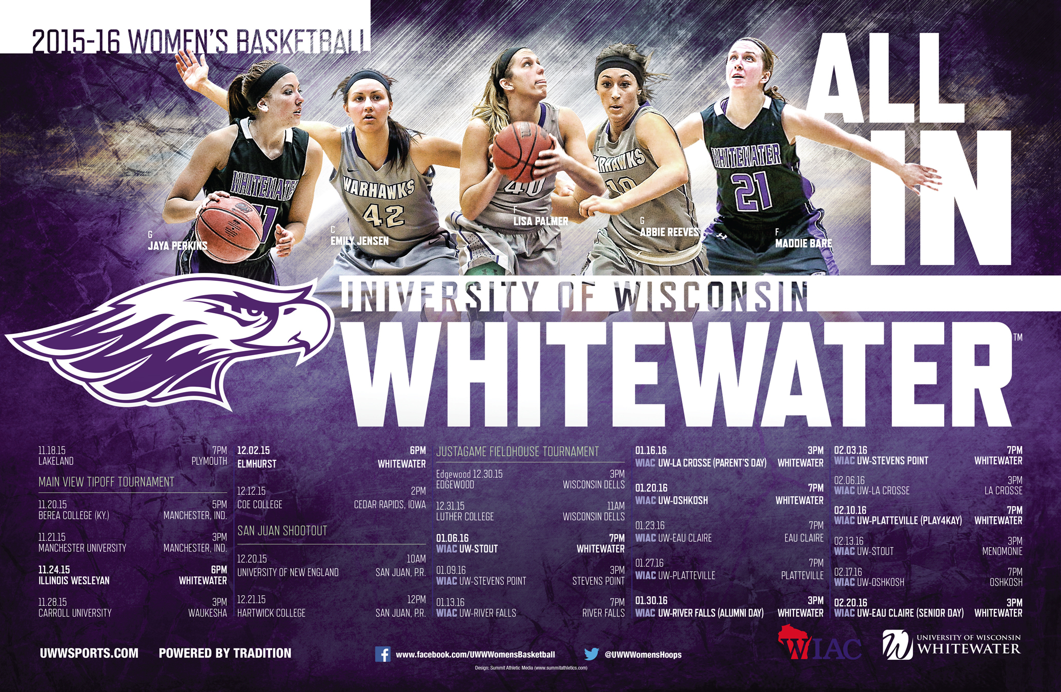 1447780631 2015 uw whitewater women's basketball poster final