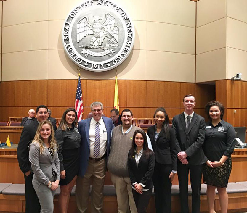 1454003410 enmu students with new mexico senator stuart ingle