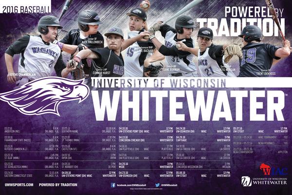 1457986314 2016 uw whitewater baseball poster final