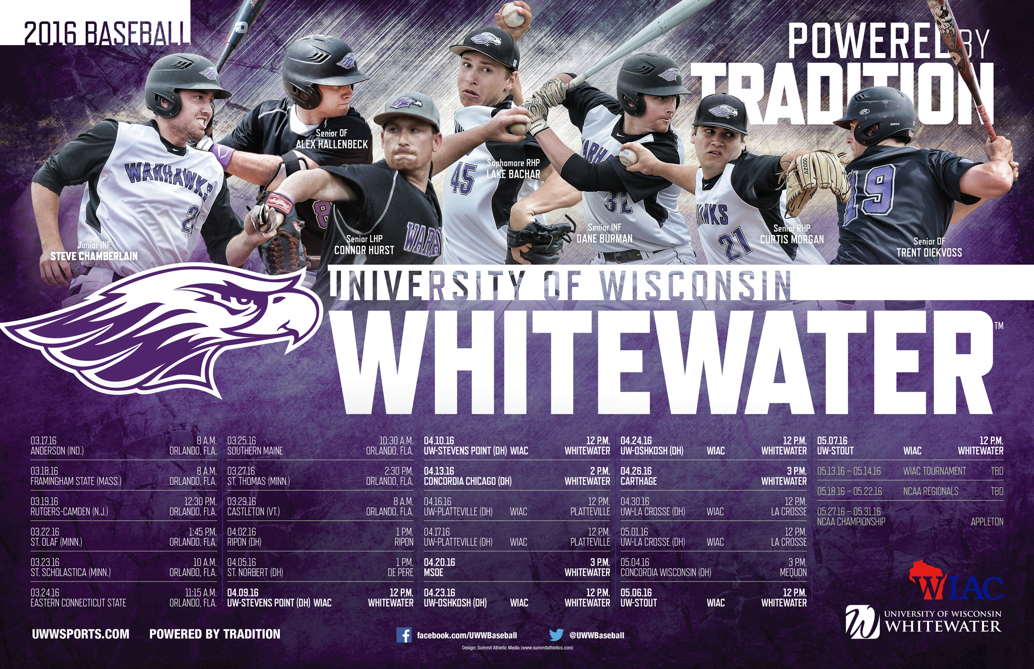 1457986314 2016 uw whitewater baseball poster final