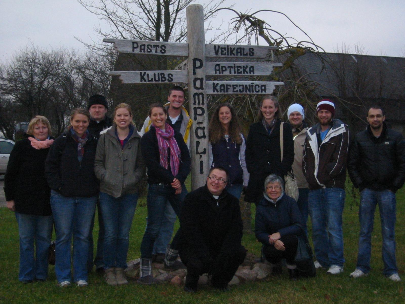 Concordia students in latvia