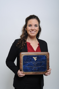 2016 wvu regional sales competition   1st place individual award   grace gorman 10152016