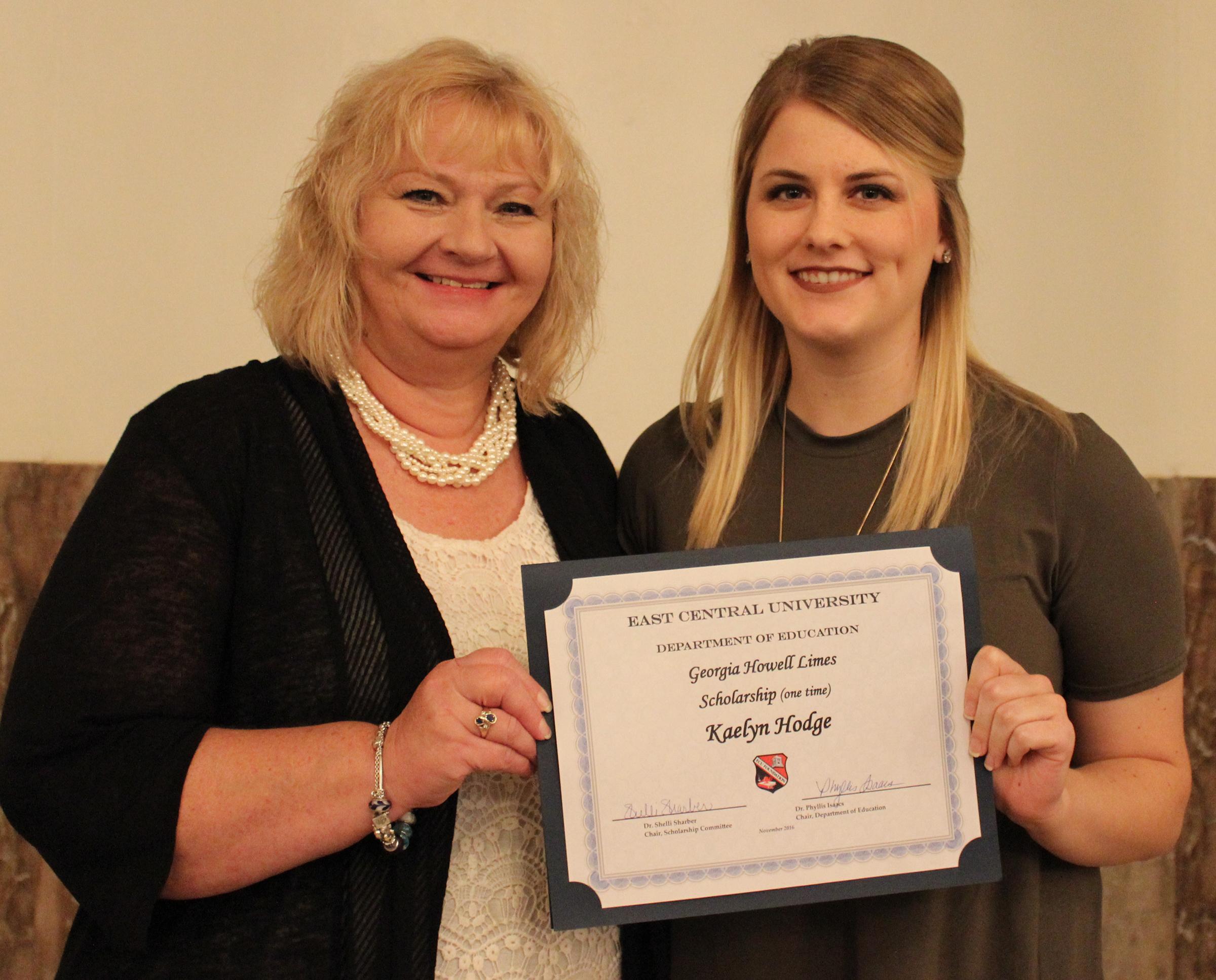 Kaelyn hodge 2 scholarships