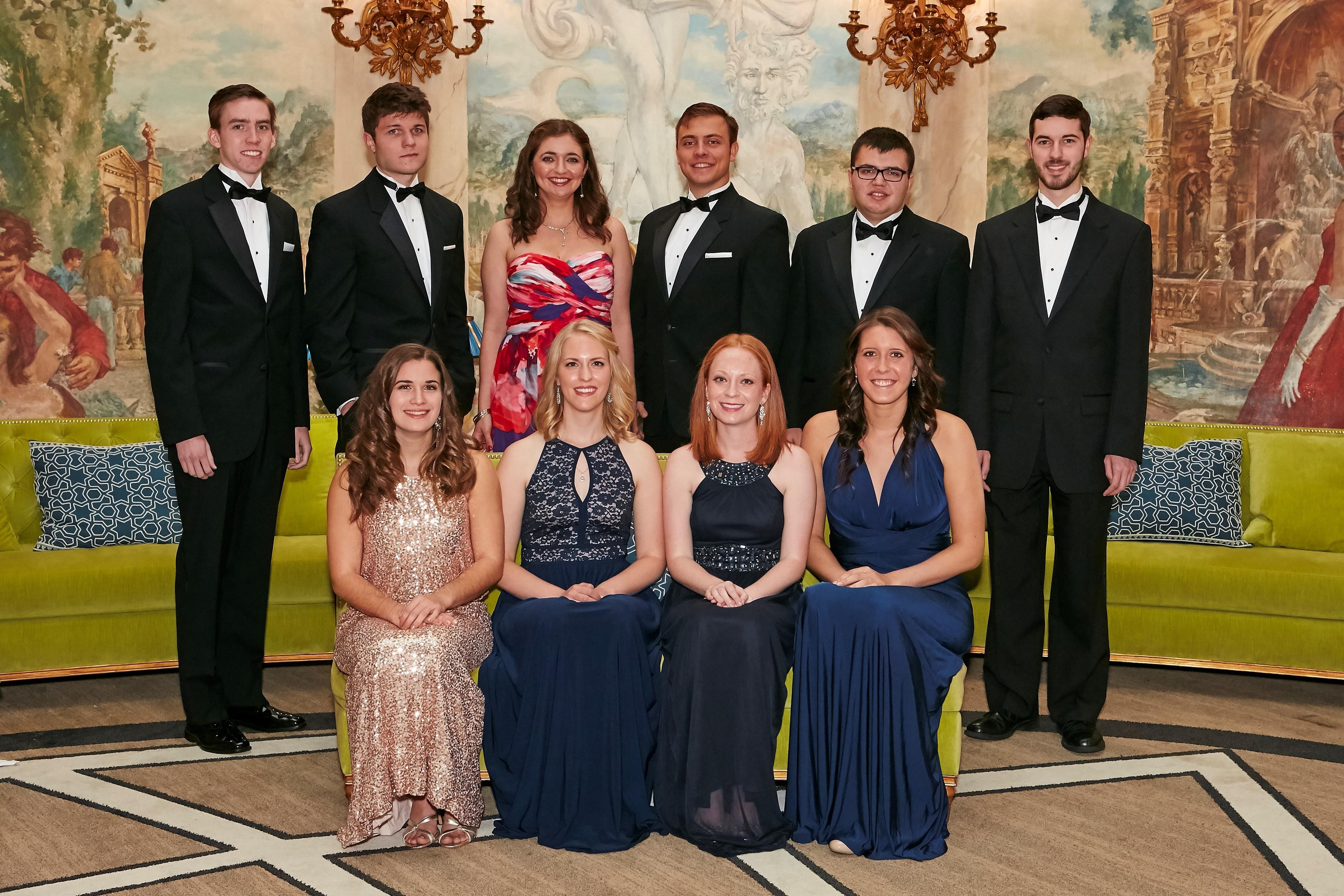 Pres scholars at gala group