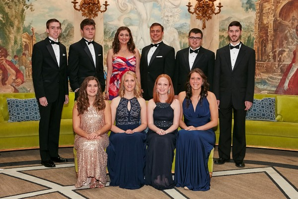 Pres scholars at gala group
