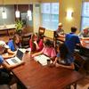 Sau students enjoying new freshman residence hall fall 16