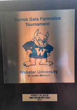 Debate tournament plaque