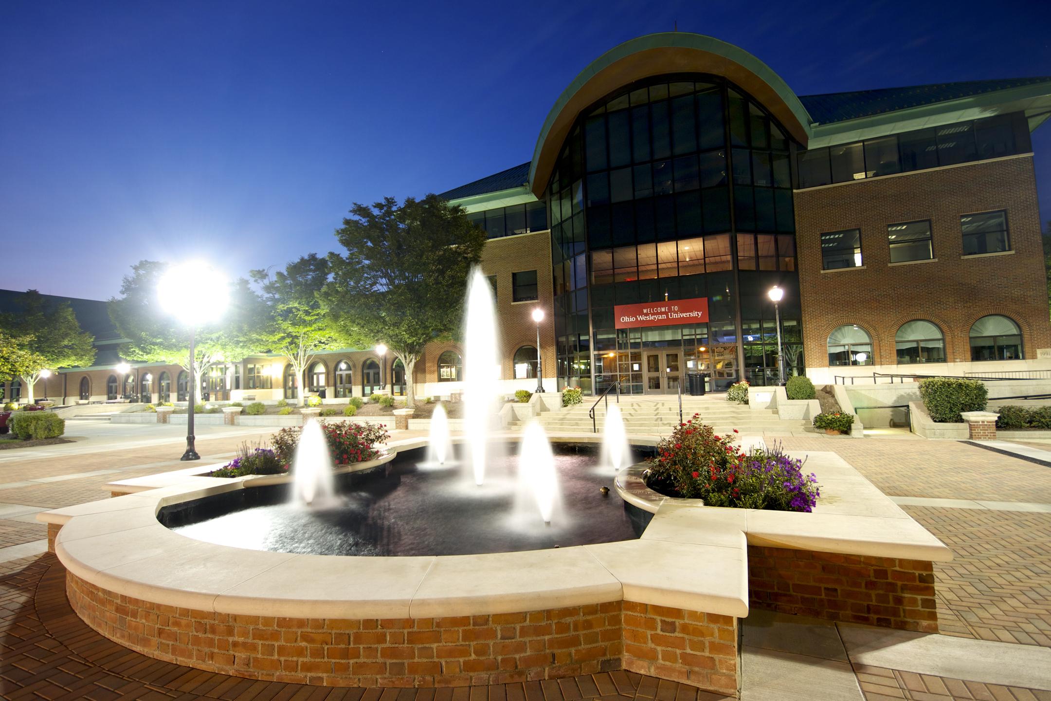 Ohio wesleyan university fountain