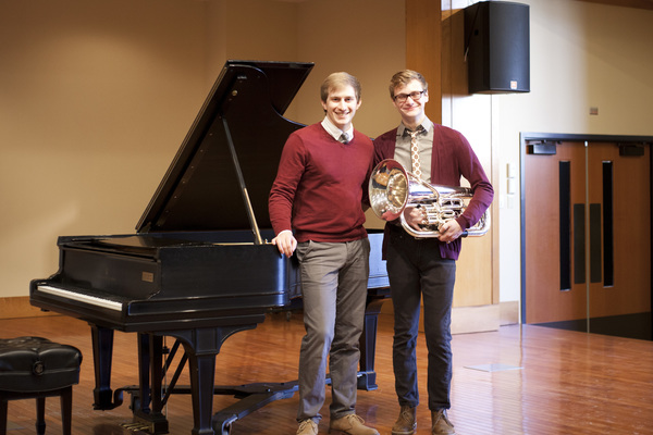 Andrew must left recital partnet for mark wasilko on right
