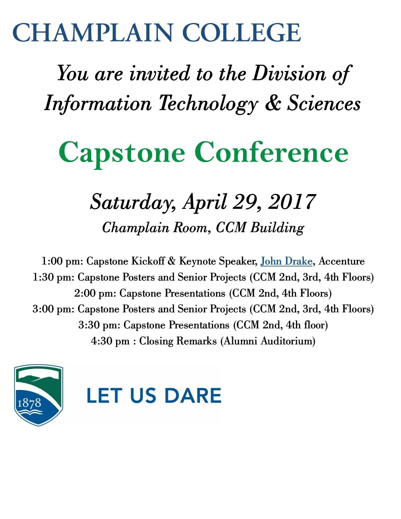 Capstone conference invite 2