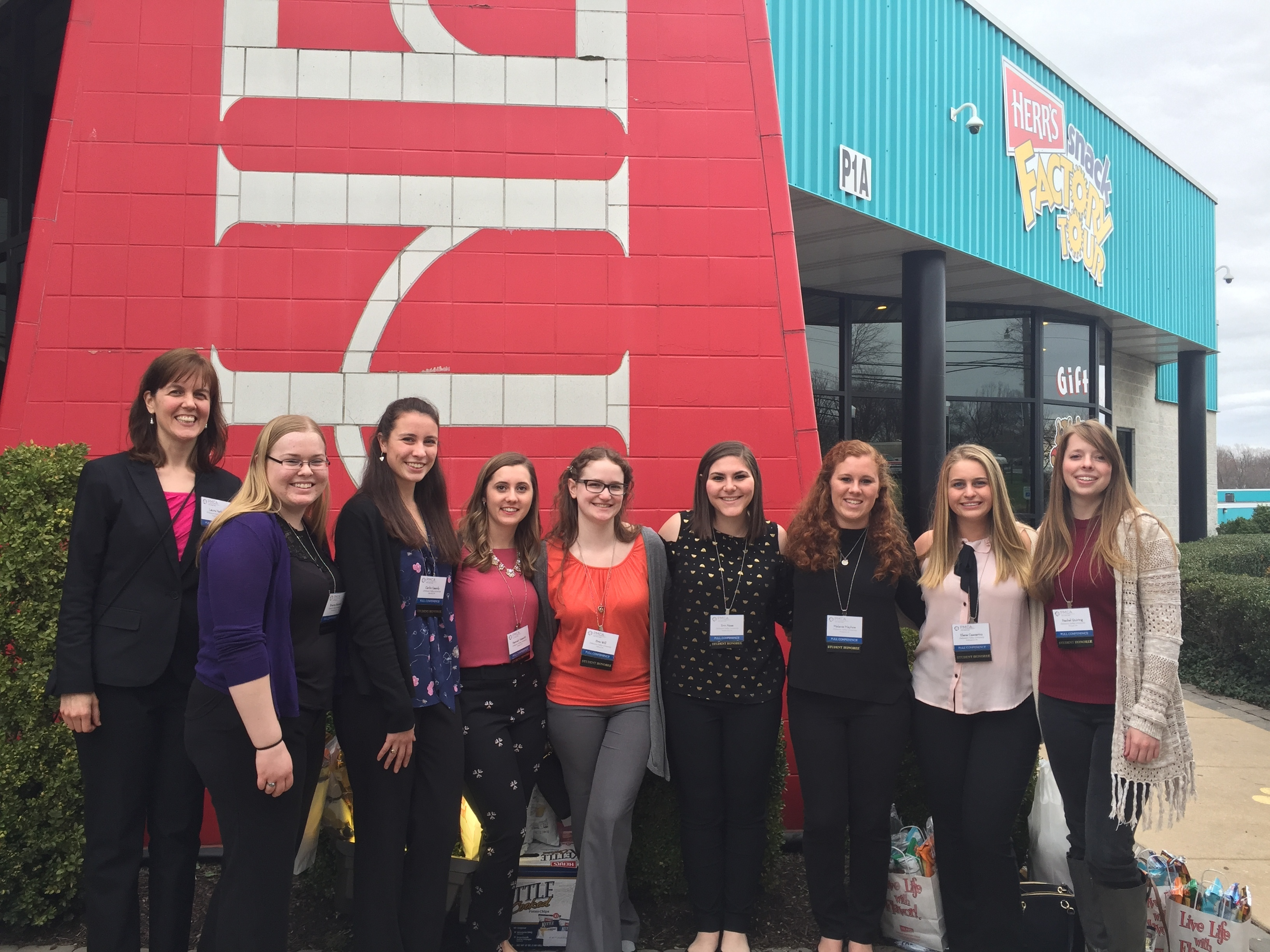 Delval student group at the herrs facility 2