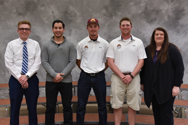 13 20170420 student awards turf bowl team recognition golf and turf mgmt prog ben koisti david zapata jake butcher cody pamperin kristie walker 2401