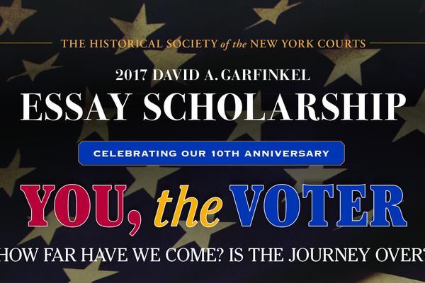 2017 garfinkel essay scholarship flyer top half