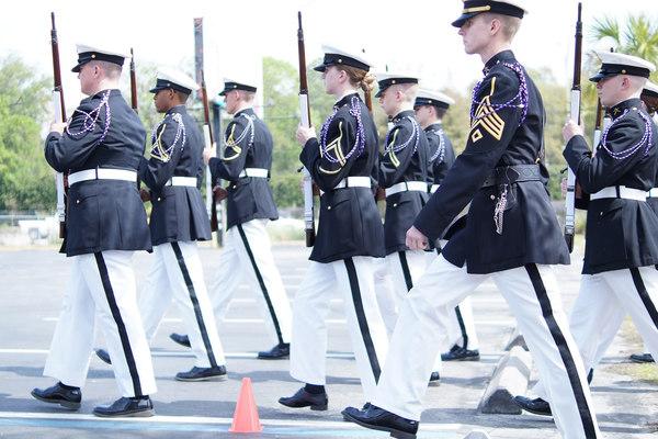 Pershing rifles left