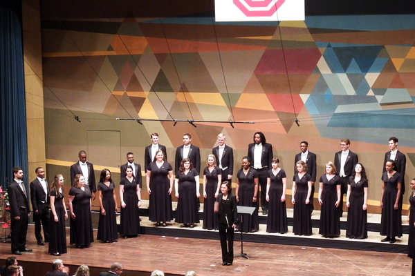 University singers performing in markdorff
