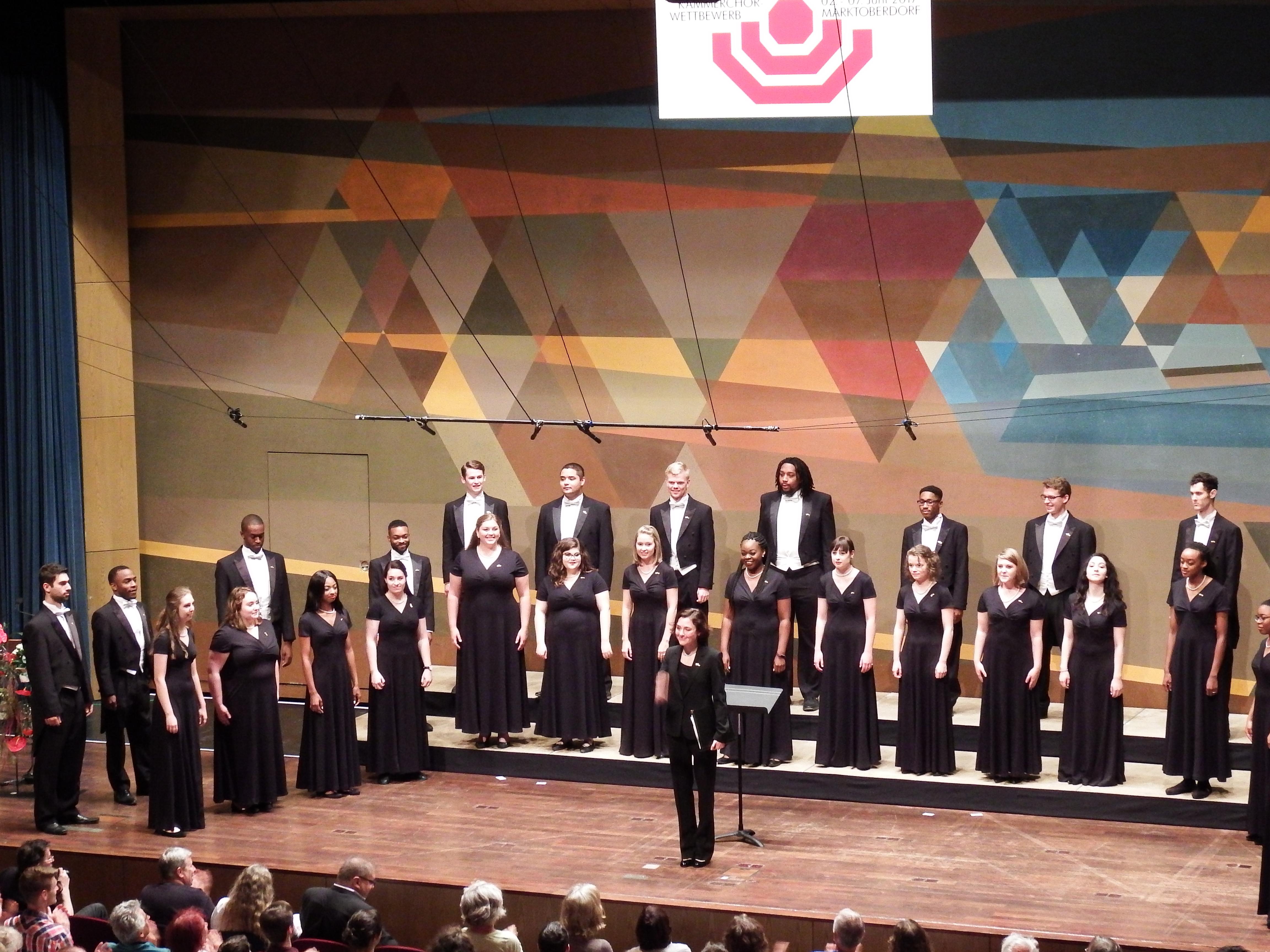 University singers performing in markdorff