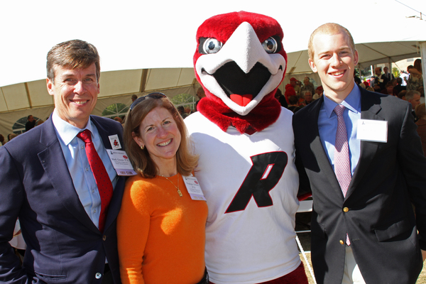 Mark green penelope greene rally the red hawk and kyle greene at a ripon college alumni event