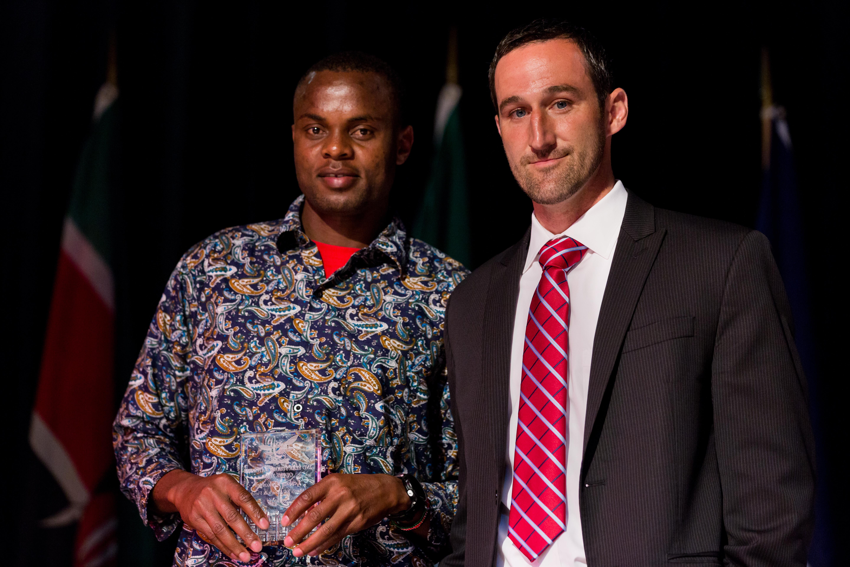 Leakey kipkosgei second year male student athlete of the year