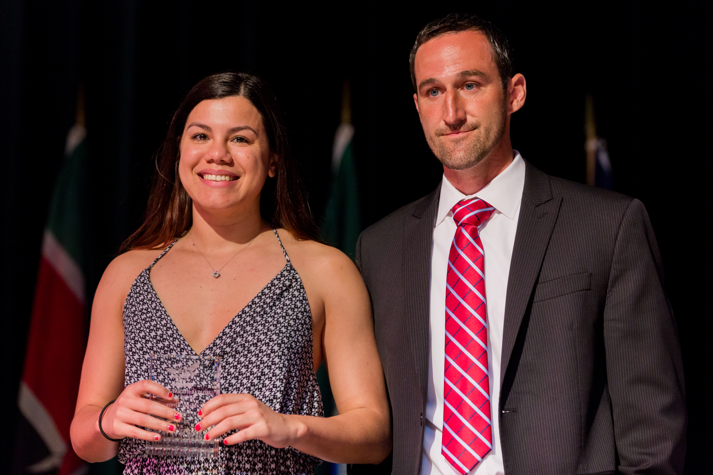 Mercy rivera third year female student athlete of the year