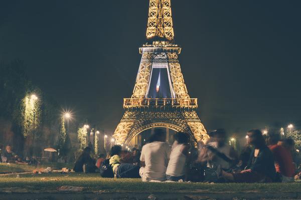 People eiffel tower france landmark