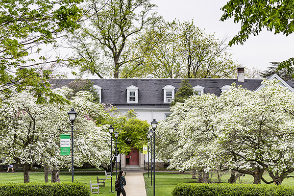 Delaware valley university campus spring