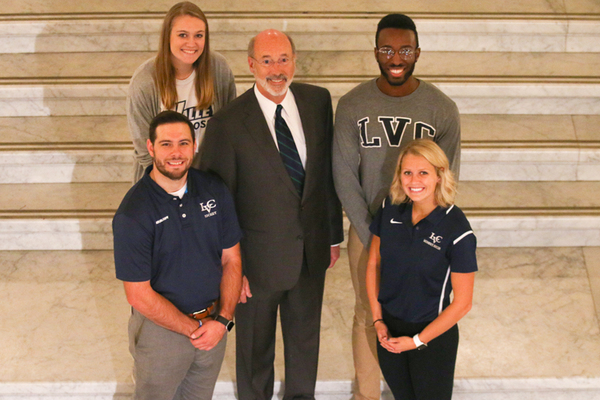 Gov wolf with kenzie kelley russ armbruster katie goldsmith terrence habiyarmye