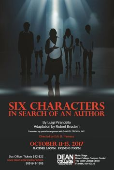 Six characters dean college october 11 15 2017