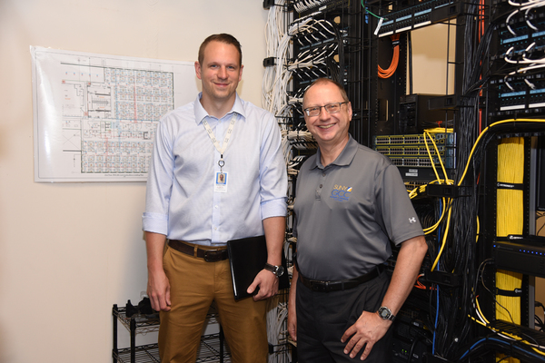 Matt hobart with gcc professor bucki