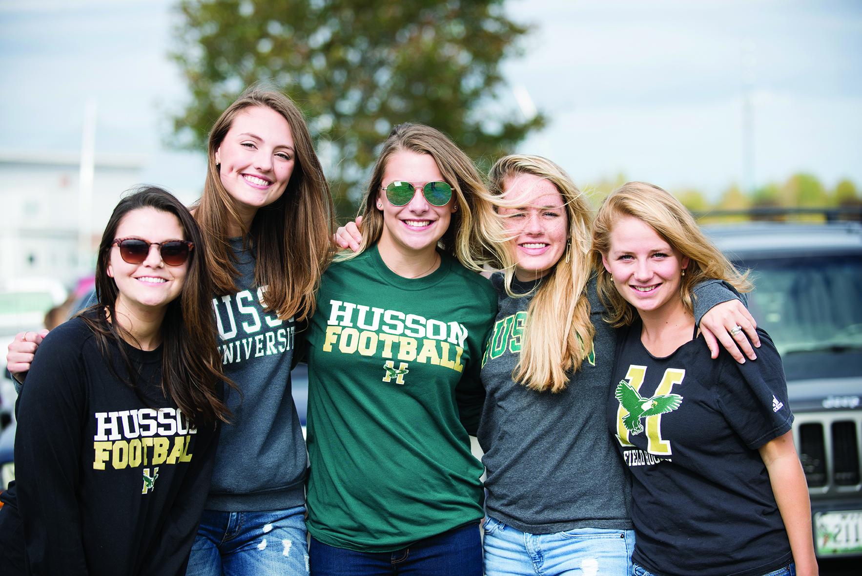 Five women at homecoming 2017