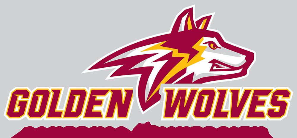 Golden wolves logo