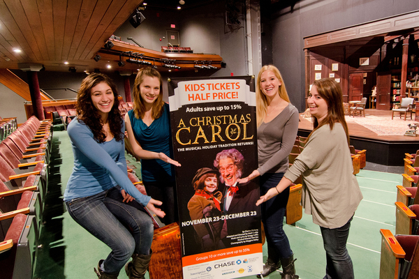 Nazareth college theatre students cast in geva s production of a christmas carol